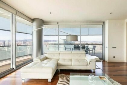 AB Magnificent apartment with a terrace and swimming pool in Diagonal Mar