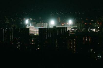 Stunning views over Hiroshima behind Stn