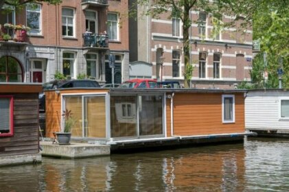 Cozy houseboat in a quiet canal