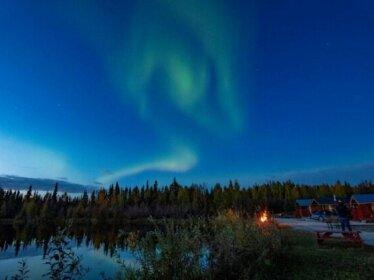 Alaska Log Cabins on the Pond